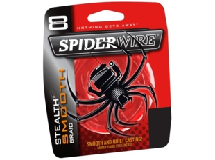 SPIDERWIRE STEALTH SMOOTH 8 šnůra metráž červená 0,30mm