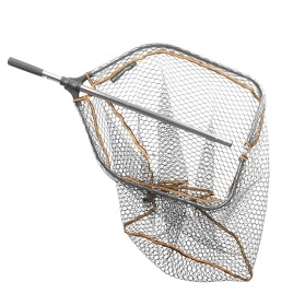 SAVAGE GEAR PRO TELE FOLDING RUBBER LARGE MESH LANDING NET L (60x50cm)